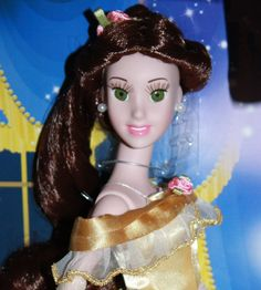 Wish I had $300 to blow on this for Bridget...DISNEY CRYSTAL DREAMS BELLE DOLL BY BRASS KEY