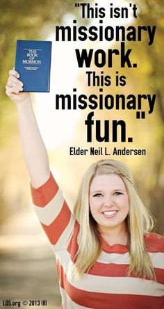 YES! I am so blessed to interact with the missionaries in our ward, they are sooo AMAZING!(: Great examples to me! ..I love sharing the gospel!