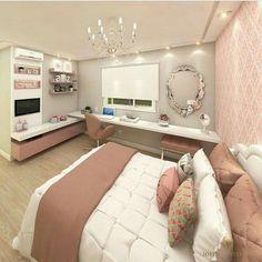 Teen Bedroom Designs, Bedroom Decor For Teen Girls, Room Design Bedroom, Small Room Bedroom, Room Ideas Bedroom, Home Room Design, Girl Bedrooms, Bedroom Furniture, Small Rooms