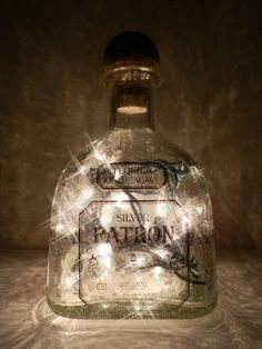 Patron Tequila Lighted Bottle by BoMoLuTra on Etsy, $19.00