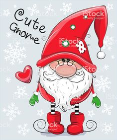 Illustration about Greeting Christmas card Cute Cartoon Gnome on a blue background. Illustration of cute, adorable, garden - 105173536 Christmas Rock, Christmas Gnome, Christmas Colors, Christmas Projects, Christmas Ornaments, Merry Christmas, Christmas Cartoons, Christmas Clipart, Christmas Greetings