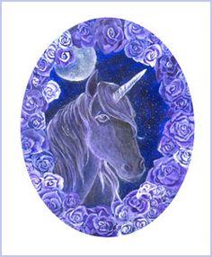 enchanted unicorn   Enchanted Moon Unicorn Print - Unicorn Art Prints - Equine Fantasy ...
