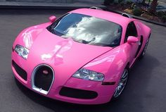 Bugatti Veyron... PINK!! Do you think you may be gay if you drive this car.