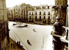 pza belluga Murcia, Street View, Antique, 19th Century, Antique Photos, Black And White, Cities, Past, Art