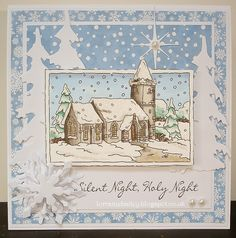 LOTV - Christmas Scenes Snowy Church by Lorraine Bailey                                                                                                                                                                                 More