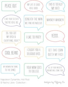 Photo Tags . Napolean Dynamite, Nacho Libre & Hot Rod Collection . printable download
