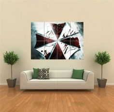 VIDEO GAMES RESIDENT EVIL UMBRELLA CORP NEW GIANT ART PRINT POSTER PLAKAT DRUCK G1529: Amazon.de: Küche  Haushalt