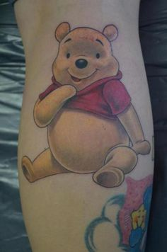 Winnie The Pooh Tattoos.This is the one I will get along with one of the anchors. Frog Tattoos, Cartoon Tattoos, Love Tattoos, New Tattoos, Tatoos, Winnie The Pooh Tattoos, Cute Winnie The Pooh, Disney Tattoos, Piercing Tattoo