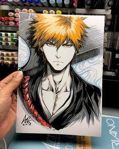 Artgerm Na Arte Tradicional - Ozymandias_Realista Bleach Drawing, Bleach Art, Manga Art, Manga Anime, Anime Art, Bleach Anime, Character Art, Character Design, Copic Drawings