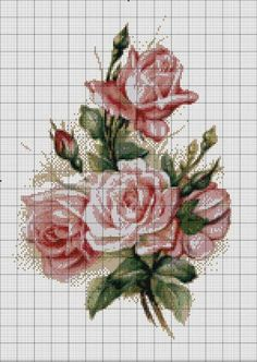 This Pin was discovered by Yes Cross Stitch Rose, Cross Stitch Flowers, Cross Stitch Kits, Cross Stitch Charts, Cross Stitch Designs, Cross Stitch Patterns, Cross Stitching, Cross Stitch Embroidery, Embroidery Patterns