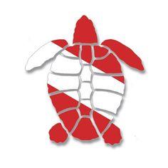 Next tattoo! Dive flag turtle!