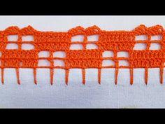 Easy Crochet, Crochet Lace, Pattern, Youtube, Polka Dot Rug, Basic Crochet Stitches, Crochet Edging Patterns, Hairpin Lace Crochet, Sewing Needles