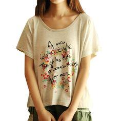 Little Hand Womens Fashion Korea Garland Letters Printed T-shirt Top Little Hand http://www.amazon.com/dp/B00KGO4X76/ref=cm_sw_r_pi_dp_PS.Vub0CA7VW5