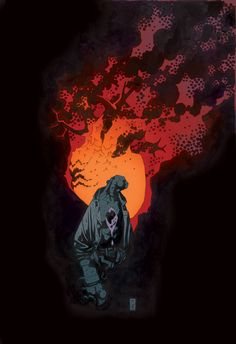 Hellboy by Mike Mignola Comic Book Artists, Comic Artist, Comic Books Art, Hellboy Movie, Mike Mignola Art, Found Object Art, Science Fiction Art, Pulp Fiction, Universe Art