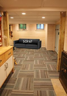 35 best basement flooring ideas images on pinterest basement rh pinterest com Carpet Squares for Basements Basement Carpet Tile Squares