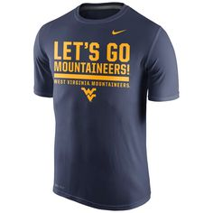 72375af549c8f7 West Virginia Mountaineers Nike Local Verbiage Dri-FIT Legend T-Shirt - Navy