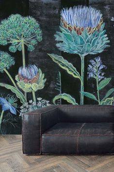 Bespoke Allium Mural Wallpaper by Lucy Tiffney from Rockett St George