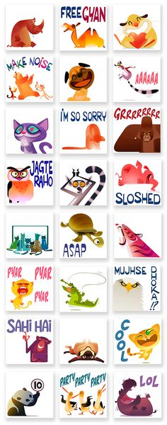 STICKERS by Sukanto Debnath, via Behance