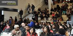 New students in the #winter2015 semester at #centennialcollege attend #orientation2015