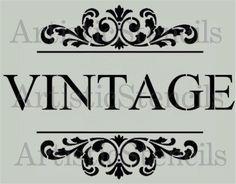 Vintage Scroll Brackets Stencil - Various sizes