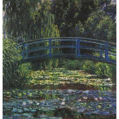 Gallery Direct Fine Art Prints: The Water Lily Pond Japanese Bridge by Claude Monet