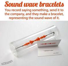 Sound wave bracelets.