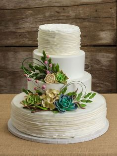 Natural Gardens wedding cake features gum paste succulents and would be perfect for a rustic chic wedding. Natural Gardens wedding cake features gum paste succulents and would be perfect for a rustic chic wedding. Chic Wedding, Perfect Wedding, Dream Wedding, Crazy Wedding, Wedding Reception, Wedding Ideas, Pretty Cakes, Beautiful Cakes, Succulent Wedding Cakes