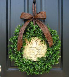 Fall Wreaths Wedding Decor Spring Decor Boxwood by twoinspireyou
