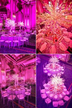 Can't get enough of the wedding uplighting at the Fairmont San Francisco!