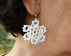 PDF Tutorial Crochet Pattern Crochet Earrings by accessoriesbynez