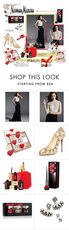 """""""The Holiday Wish List With Neiman Marcus: Contest Entry"""" by marinadusanic ❤ liked on Polyvore featuring Neiman Marcus, Carmen Marc Valvo, Jonathan Adler, Christian Louboutin, Yves Saint Laurent, Smith & Cult and DANNIJO"""