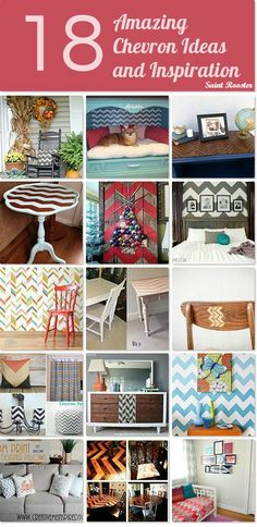 Decorating with Chevron ~ accessories and decor