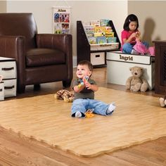 New Natural Wood Foam Mat for kiddos