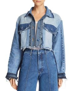 Denim Blazer, Denim Outfit, Demin Jacket, Redone Denim, Shirt Transformation, Coats For Women, Jackets For Women, Elisa Cavaletti, Denim Ideas