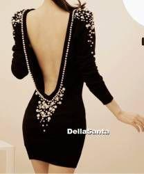 Vestido costas decotada - DellaSanta
