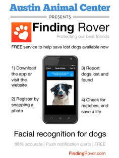 An App that recognizes animals faces and makes lots pets easier to find. http://bit.ly/12sp8Es