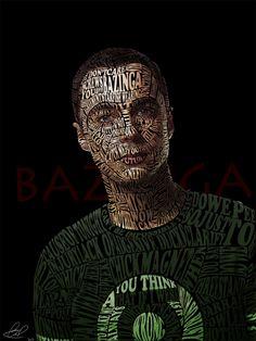 Typographic Portrait Sheldon Cooper by Automaticize on deviantART