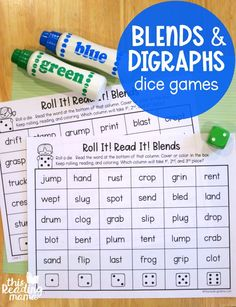 If your learner is working on blends or digraphs, you'll want to grab a copy of these free phonics dice games for blends & digraphs. *This post contains affiliate links. **The free download can be found at the END of this post. A little background… My daughter, now in 2nd grade, went to a part-time school ... Read More about Phonics Dice Games for Blends and Digraphs
