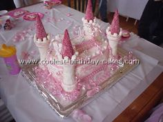 Take a look at the coolest homemade Castle birthday cakes. You'll also find loads of homemade cake ideas and DIY birthday cake inspiration. Castle Birthday Cakes, Diy Birthday Cake, Homemade Birthday Cakes, Homemade Cakes, 9th Birthday, Birthday Parties, Easy Princess Cake, Princess Party, Princess Castle