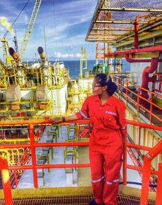 "Aqmal Iey: ""It isn't easy to be a female working in oil and gas especially in offshore. It's a risky and tough environment, but it isn't an excuse for me to stop and be a lady who works in an office surround by a comfortable environment. WHY? Because I LOVE MY JOB! To all the ladies out there who work in this tough environment, do not give up but be proud! Only chosen ones can be in this field To everyone who works in oil and gas, enjoy it! And don't forget, safety first. Safety is mandatory…"