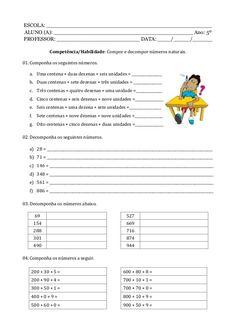 Caderno de atividade - 5º ano - Programa Primeiros Saberes da Infância Math Subtraction, Pet 1, Sistema Solar, Math Facts, Teaching Math, Bullying, Homeschool, Language, Santa Clara