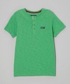 Another great find on #zulily! Green Henley - Toddler & Boys by Woolrich #zulilyfinds