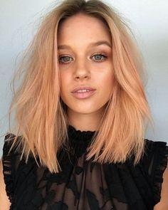 messy hair with textura, peachy hair color #haircolor