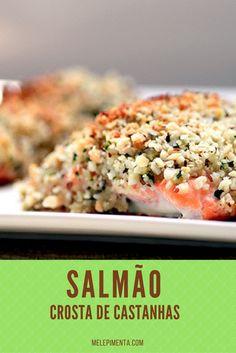 Salmao crosta de castanhas Receita de salmão coberto por uma crosta de castanhas e ervas. Veja como preparar. Você também pode fazer essa receita para o período de Páscoa.