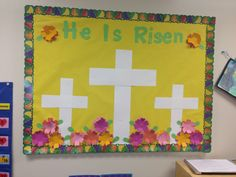 Infant Bulletin Board, Jesus Bulletin Boards, Easter Bulletin Boards, Spring Bulletin Boards, Library Bulletin Boards, Sunday School Decorations, Sunday School Crafts, Preschool Bulletin Boards, Preschool Classroom