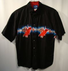 Wrangler Western Mens Shirt L Large Rodeo Short Sleeve Snap Cotton Bull Riding  #Wrangler #Western
