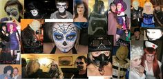 Halloween over the years Over The Years, Deadpool, Costumes, Superhero, Halloween, Face, Painting, Fictional Characters, Dress Up Clothes