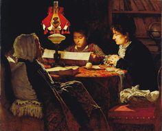 Il dispaccio del 9 gennaio 1878 / The dispatch of January 9, 1878,Odoardo Borrani. Italian (1833 - 1905)