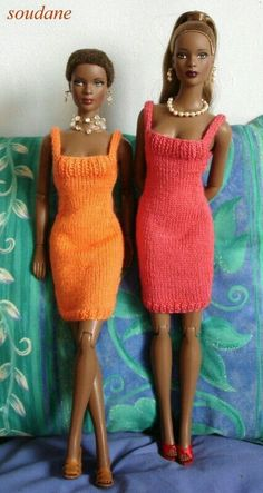 Best 10 Barbie Basic Blue Crochet Dress – made the same as the green dress only with an opening in the front Barbie Knitting Patterns, Knitting Dolls Clothes, Barbie Clothes Patterns, Crochet Barbie Clothes, Knitted Dolls, Clothing Patterns, Image Fashion, Barbie Dress, Barbie Doll