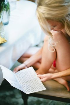 I´d love to write & receive a love letter from my fiance on our wedding day!